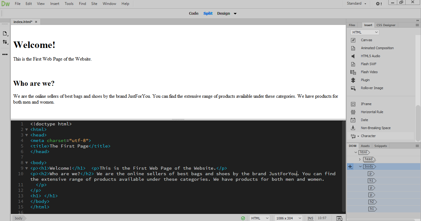 Working With Html Tags Dreamweaver Tutorials