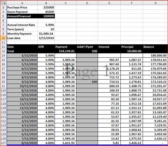 tool amortization schedule excel  full version free