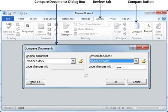 compare content of two pdf documents